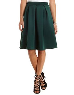 Pleated Full Midi Skirt #charlotterusse #charlottelook #pleats #midiskirt