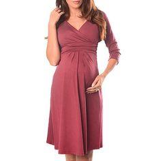 UK HOT Maternity V neck Long Dresses Large Size Loose Solid Pregnancy Dress B1