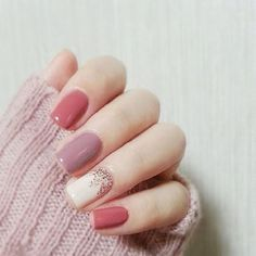 $2.76 - Gifts 24Pcs Pink & Purple Short False Nails With Stickers Acrylic Nail Art Tools #ebay #Fashion