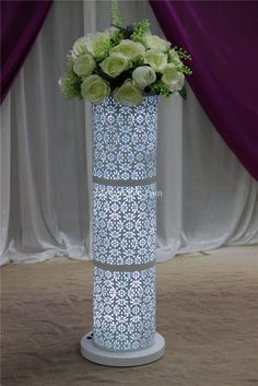 how to make diy lighted wedding columns google search