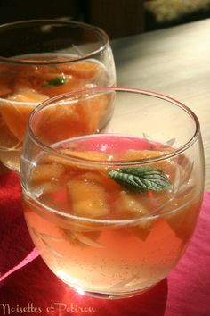 Cocktail sans alcool Melon-Menthe-Grenadine | Noisettes et Potiron