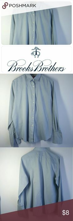 Women's long sleeve french cuff dress shirt This comfortable french cuff dress shirt is a pure classic. Gentle worn. a little ink stain near cuff very small. Brooks Brothers Tops Button Down Shirts