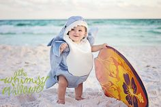 #shark #baby #beach #photography #ocean #florida #costume #summer www.thewhimsywillow.com