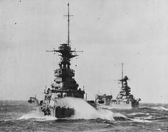 HMS Barham followed by the battleship Malaya and the aircraft carrier Argus [3600 x 2845]