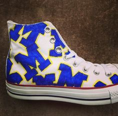 07854c4b6be128 Decorate your converse with the  BlockM University Of Michigan