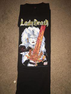 3ba3e742 Vintage 1997 Chaos Comics Lady Death T-Shirt. Fashion Victim. Size Extra  Large