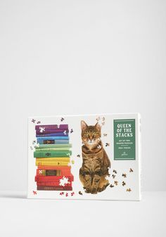 Two puzzles for the price of one? We're in love! Featuring one puzzle shaped like a colorful stack of hardcover books and the other in the shape of a poised cat, this Chronicle Books activity set is double the fun. Shape Puzzles, One In A Melon, Puzzle Pieces, Book Activities, Hippie Style, Coloring Books, Kitty, Hardcover Books, Shapes