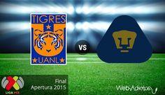 Tigres vs Pumas, final del Apertura 2015 ¡En vivo por internet! | Partido de ida - http://webadictos.com/2015/12/10/tigres-vs-pumas-final-apertura-2015/?utm_source=PN&utm_medium=Pinterest&utm_campaign=PN%2Bposts
