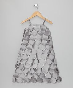 Loving this Gray Circle Cutout Dress - Toddler & Girls on #zulily! #zulilyfinds