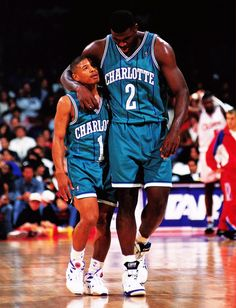 Muggsy And Larry Johnson My friend and me in the future. I'm the taller one