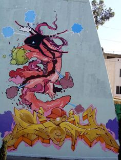 Graffiti, axolotl street art