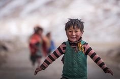 Flight of happiness! . He must be 5 years old now and I keep meeting him since 4 years seen him growing & learning how to walk to now running like he wants to fly. . Little Changpa boy I met him 4 year back in Changthang I'm sure he may not be knowing me but his familiar smile makes me happy all the time. . When I was visiting his winter settlement two months back my eyes were looking around and searching for him but I could not find him in first go. I thought he might be gone as there were…