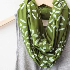 Diamonds Scarf White Olive, $28, now featured on Fab.
