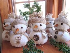 Items similar to Snowmen , Rustic Christmas , Snowmen Ornament , Christmas Decor , Ornament. on Etsy Rustic Style Christmas Snowmen Christmas Decor by Sock Snowman Craft, Snowman Crafts, Snowman Ornaments, Christmas Snowman, Rustic Christmas, Christmas Crafts, Christmas Ornaments, Handmade Christmas Decorations, Holiday Decor