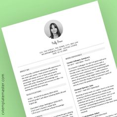 Free retail sales themed CV template