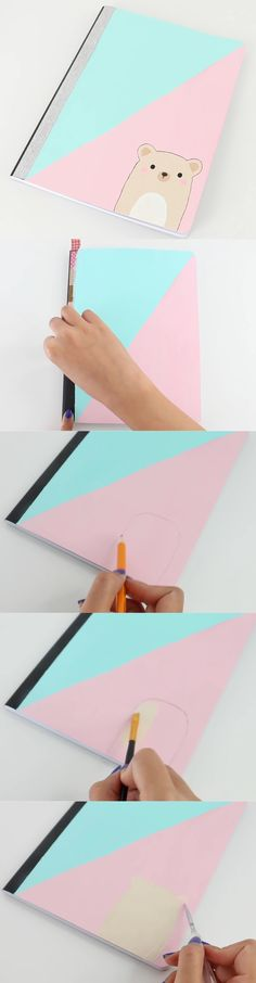 Diy Notebooks which are best for the new session in school. #allaboutdiynotebooks