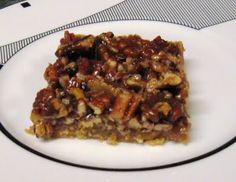 Pecan Pie Bars {debbi does dinner healthy}