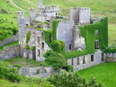 Beautiful! Would love to visit here.  Clifden Castle, Western Ireland