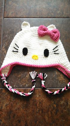 Crochet in Color: Hello Kitty Inspiration... I would actually wear this, does it come in adult size?
