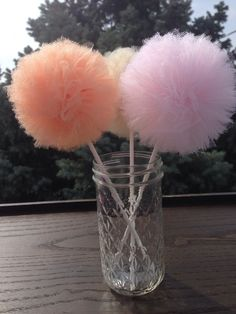 Items similar to 10 Tulle pom poms Centerpiece,Party Decoration,Pom Pom Favors Centerpiece on Etsy Tulle Poms, Paper Pom Poms, Tissue Paper, Girl Baptism Party, Baby Girl Poses, Cotton Candy Wedding, Princess Sofia Party, Trunk Party, Winter Wonderland Party