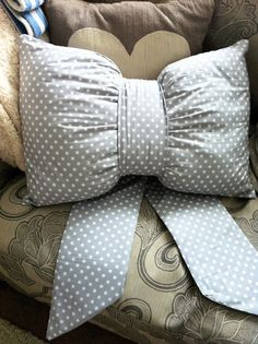 Bow Cushion nursery Wedding Present Memory by ThePriddyGiftCo, £24.99