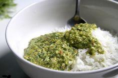 Esta es mi comida perfecta... Arroz verde: Jalapeño, aguacate y queso