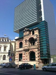 Here is a blend of old and new architecture in the centre of Bucharest.