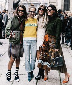 MILAN Street Style on @voguespain via @collagevintage2