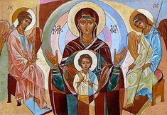 Vasiliy Myazin, The Blessed Virgin with Angels