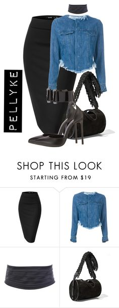 """x"" by pellyke ❤ liked on Polyvore featuring Marques'Almeida, The Row and Yves Saint Laurent"