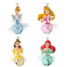 Jingle Bell Disney Princess Ornament Set -- 4-Pc.