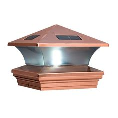 McFarland Cascade Terratec Solar Post Cap, Copper, Fits 6x6-Inch Post by McFarland Cascade. $33.67. From the Manufacturer                McFarland Cascade Solar Post Caps utilize LED (light emitting diode) technology to provide light. It protects the post end from excessive water penetration. To install, remove thin protective film covering solar panel, be sure on/off switch is in on position. Remove pull-tab from battery compartment to activate. Fits 6-by-6 inch posts.