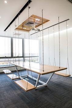Attirer et retenir les talents | Office et culture réunion balançoire #commercialofficedesigns