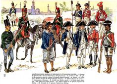 British forces in Egypt, 1801 - Marines, sepoys and foreign forces in British service. Click on image to ENLARGE.