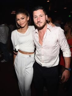 Zendaya with Val at Trevor's Monster 18th birthday party in LA (August 28th)