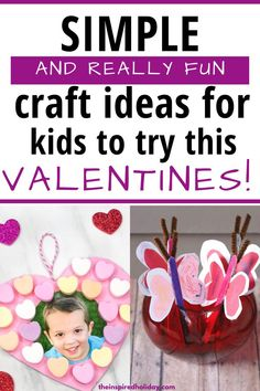 Get your craft on with these fun Valentine ideas for kids. There are so many great Valentine craft ideas for kids to try this year #valentinesday #craftsforkids #valentinescrafts