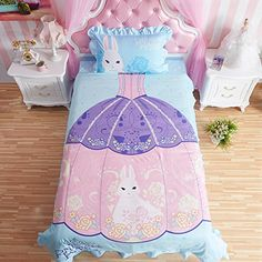 Princess Rivals Teenage Girls Blue Bed Set Bedding Comfor…