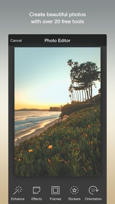 Photo Editor by Aviary allows you to beautifully edit your photos. Choose filters, tools, frames and even add text over your image. Save your image, then simply upload it to the Compassion app to share it in your next sponsor letter!