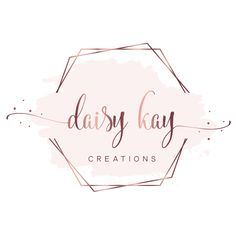 Beautiful handcrafted gifts for many occasions. by DaisyKayCreation Logos, Bakery Logo Design, Beauty Logo Design, Makeup Artist Business Cards Design, Frame Logo, Hand Crafted Gifts, Logo Design Collection, Logo Design, Design