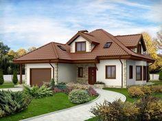 Projekat kuće sa potkrovljem i garažom – Z58