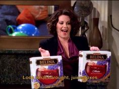 Look what I brought...juice boxes! <3 Karen walker