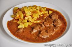 Recept na jelení guláš - je to pěkná divočina Thai Red Curry, Health, Ethnic Recipes, Food, Health Care, Essen, Meals, Yemek, Eten