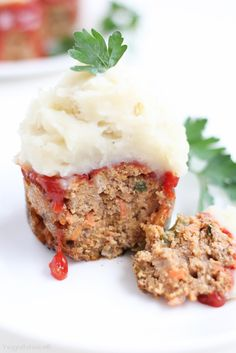Mini Meatloaf (Healthy, Gluten Free & can be made Dairy-Free)