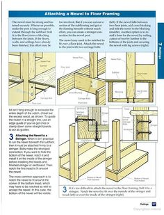 How To Attach A Newel Post (use Lag Screws)