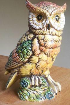 Vintage old Enesco owl figurine made in Japan by Timebanditvintage, $15.00