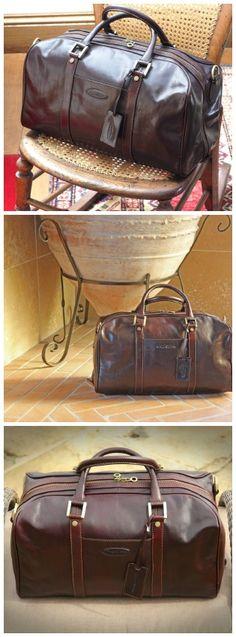 The Maxwell Scott FleroS #luxury #luggage #bag in Dark Chocolate . #Handmade in #Italy.