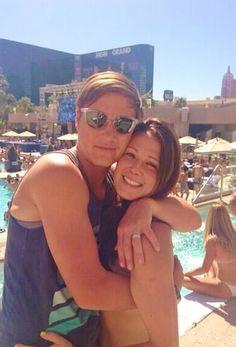 Soccer sensations Abby Wambach and Sarah Huffman on their honeymoon in Hawaii.