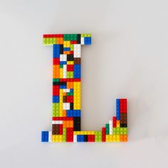 Lego Wall Decor legos- nursery- wooden letters- home decor- boys room- wall art