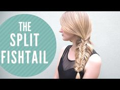 Confessions of a Hairstylist Hair Blog by Jenny Strebe: Split Fishtail Braid Tutorial