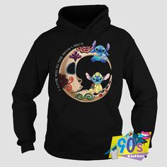Clothes is proud to Cute Love The Moon Back Lilo and Stitch Hoodie for you to wear everyday and wear with Vintage t shirt or tanktop. The post Cute Love The Moon Back Lilo and Stitch Hoodie appeared first on Clothes. Lilo And Stitch Hoodie, Stitch Sweatshirt, Cheap Hoodies, Cool Hoodies, 90s Clothes, 90s Outfit, Cute Love, 90s Fashion, Moon